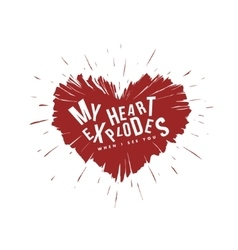 Valentine day lettering background Heart vector image vector image