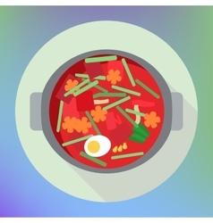 vegetable beet soup borsch flat vector image vector image