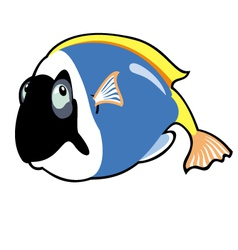 cartoon blue tang vector image