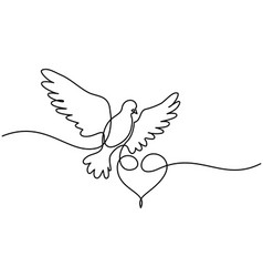 flying pigeon logo vector image vector image