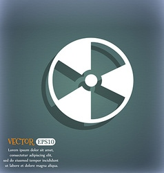radioactive icon On the blue-green abstract vector image