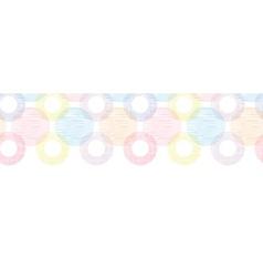 Colorful textile circles horizontal seamless vector image