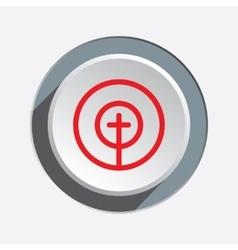 Crosshair sign icon Target end objektive aim vector image