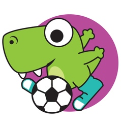 Dinosaur Sports vector image vector image