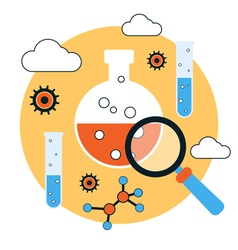 Science research and analysis concept vector image