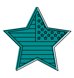 star badge with flag united states usa icon image vector image vector image