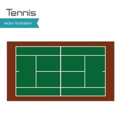 tennis court top view design vector image