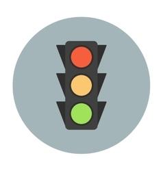 Traffic light icon flat vector image vector image