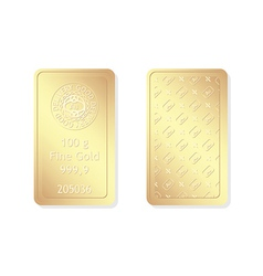 100g minted gold bar vector