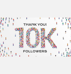 10k followers group business people vector