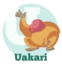 ABC Cartoon Uakari vector image