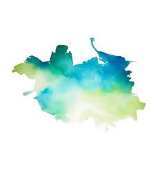 abstract aqua green and blue watercolor splash vector image
