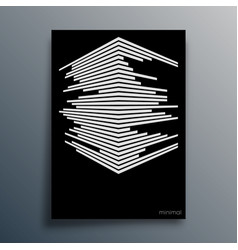abstract geometric typography with lines vector image