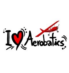 Aerobatics symbol vector