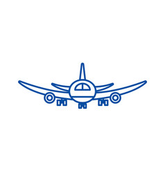 airplane flight line icon concept airplane flight vector image