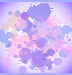 Background template design with purple splashes vector