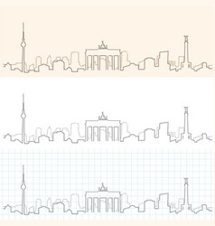 Berlin hand drawn skyline vector