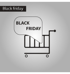black and white style icon Shopping Cart Black vector image