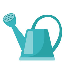 blue watering can cartoon vector image