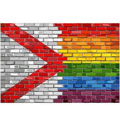 brick wall alabama and gay flags vector image