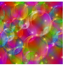 Bubbles seamless motley vector