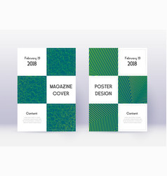 business cover design template set green abstract vector image