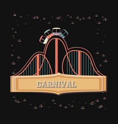 carnival roller coaster icon vector image