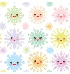 Christmas design seamless pattern kawaii vector