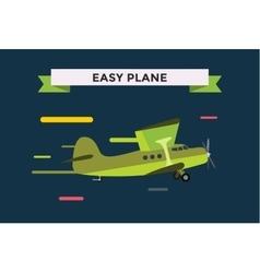Civil aviation travel small easy passenger air vector
