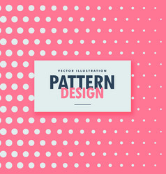 clean dots pattern on pink background vector image