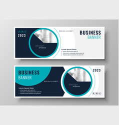 Company business banner professional layout design vector
