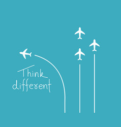 different think concept vector image