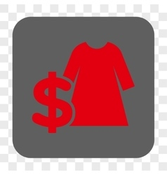 Dress price rounded square button vector