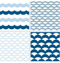 fish scale and wave pattern vector image