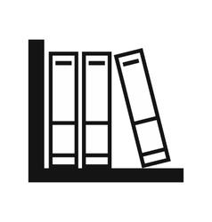 Folders on shelf simple icon vector