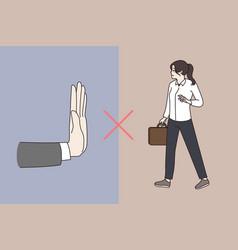 Gender discrimination of women at workplace vector