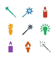Glow icons vector