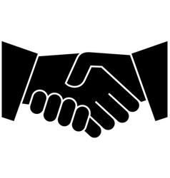 handshake icon design template vector image