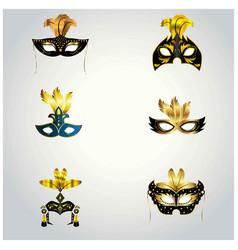 Happy brazilian carnival day set of 6 elegant vector