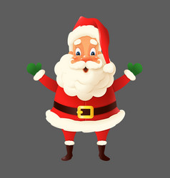 happy cute santa claus isolated vector image