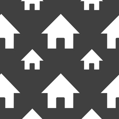 Home Main page icon sign Seamless pattern on a vector image