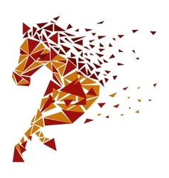 Horse particles icon vector image