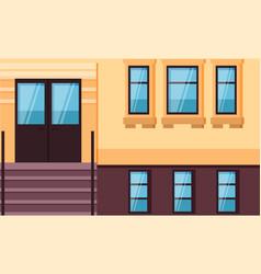 House facade entrance door and windows vector