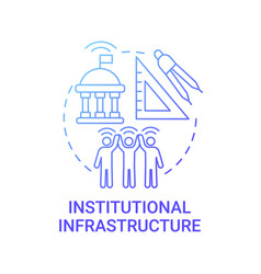 Institutional infrastructure gradient blue vector