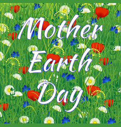 international mother earth day vector image