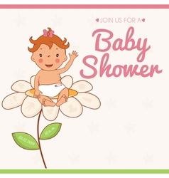 Invitation card on baby shower vector