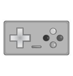 Joystick icon black monochrome style vector image