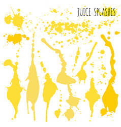 Juice orange and apple splashes watercolor vector