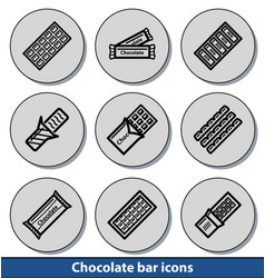 light chocolate bar icons vector image