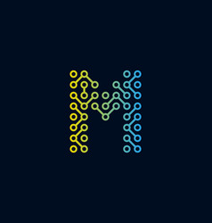 M circuit technology letter logo icon design vector
